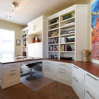After Remodel Interior Home Office Shared Home Office Condominium Home Office Renovation Design Group