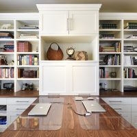 After Interior Home Offices Built In Storage Shelves Condos Renovation Design Group