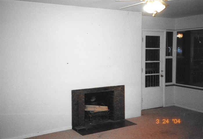 Before Living Room Fireplace