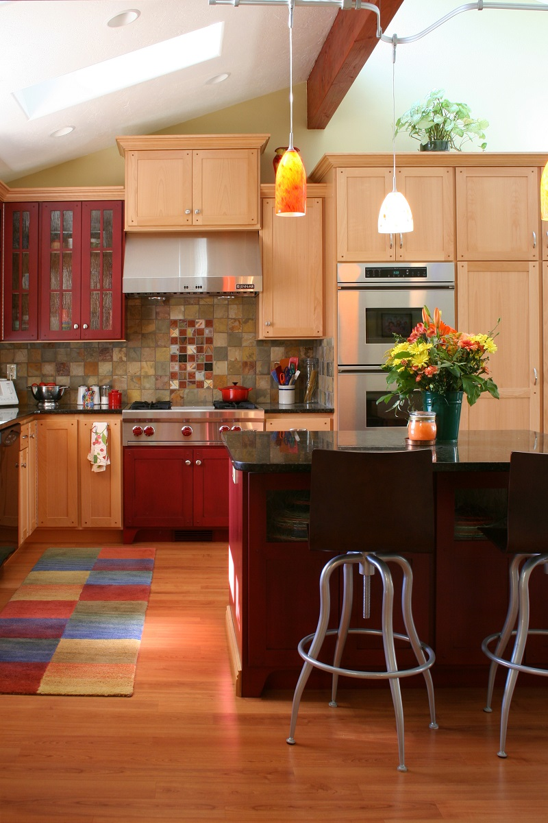 Modern Colorful Kitchen remodel