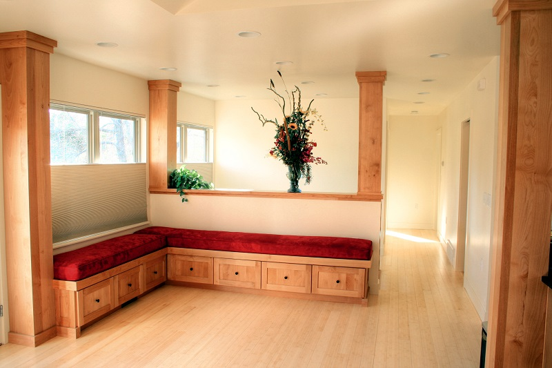 Storage bench Seating Entrance | Renovation Design Group