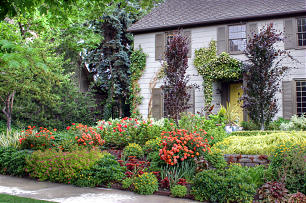 Well landscaped yard adds value