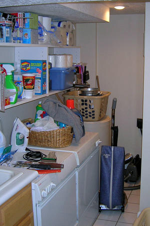 Laundry before
