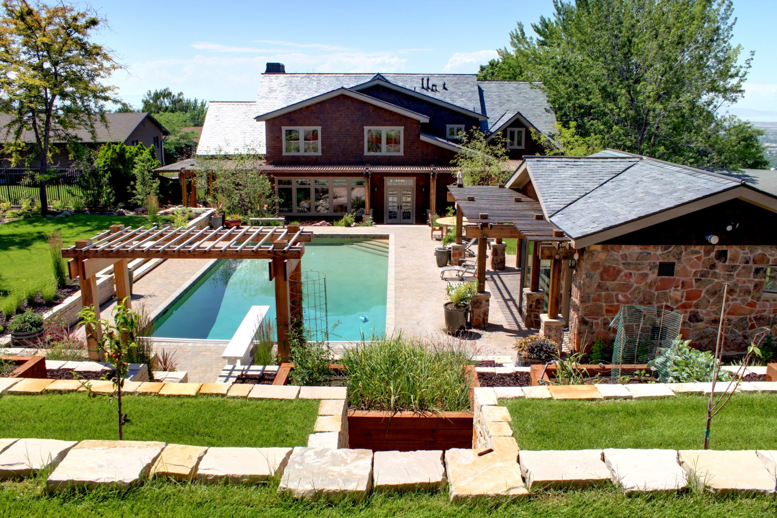 After_Exterior-Update_Water-Feature_Swimming-Pool-Renovation | Renovation Design Group