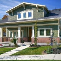 Contemporary Exterior Bungalow Addition