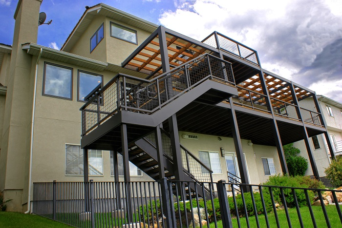 Salt Lake City Utah home remodel. Contemporary Outdoor Spaces Deck and Porch | Renovation Design Group