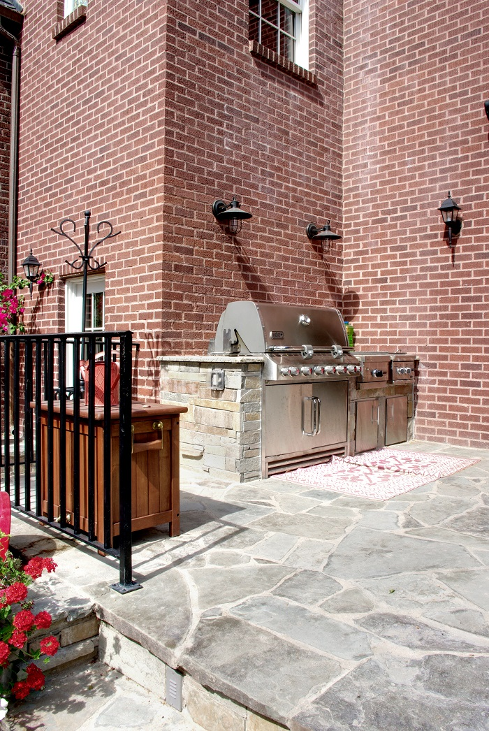 After Exterior Remodel Custom Grill Federalist Style
