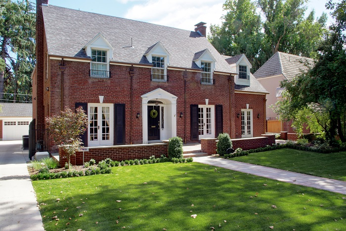 After Front Exterior Brick House Federal Style