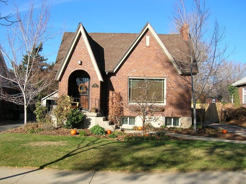 Before, Exterior, Tudor, Second Story Addition, brick Tudor, Brick Exteriors | Renovation Design Group