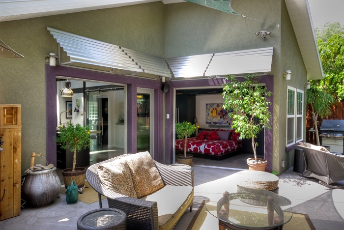 Outdoor Patio, Sun Shading, Tension, indoor outdoor space | Renovation Design Group