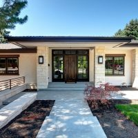 After Whole House Renovation Home Exterior Front Porch Curb Appeal Remodel | Renovation Design Group