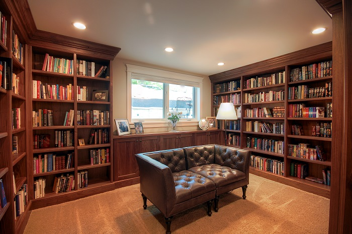After Whole House Renovation Library Remodel | Renovation Design Group