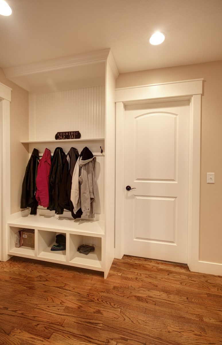 After_Interior_Mudroom_Coat Rack_Cubbies_1980's home remodel and update | Renovation Design Group