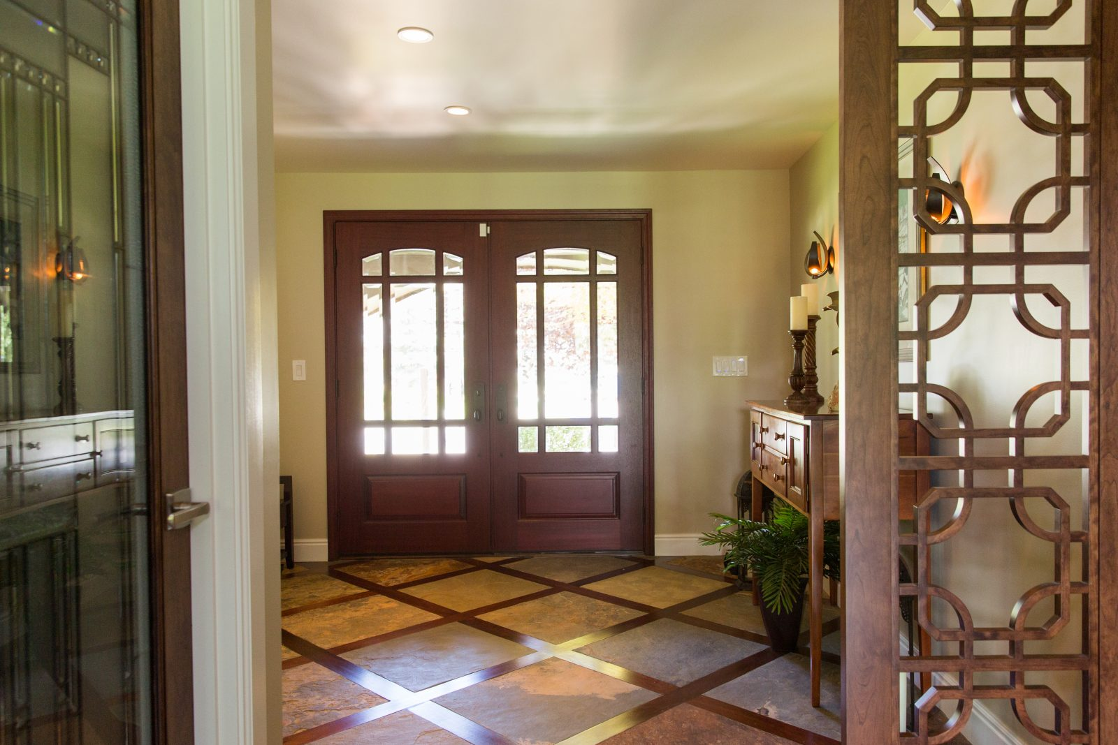 Cottonwood Club Split Level Interior Front Door Entry Remodel by Renovation Design Group