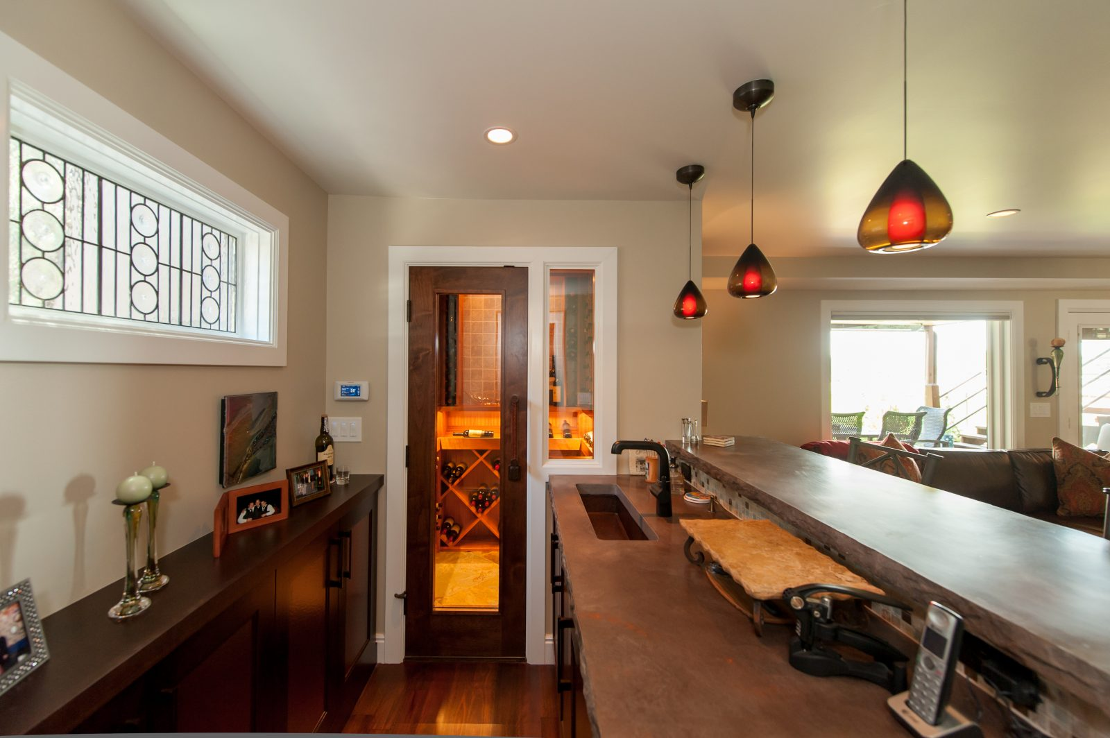 Cottonwood Club Split Level Interior Basement Family Room Renovation by Renovation Design Group