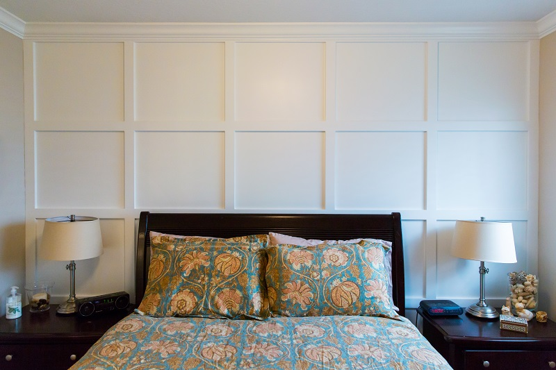 Master bedroom remodel wall paneling | Renovation Design Group