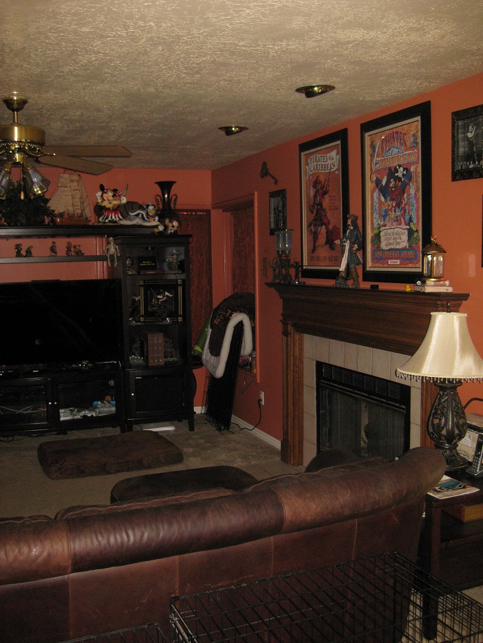 Before_Interior Renovation_Family Room_1990's Home Update | Renovation Design Group