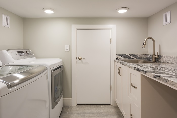 11th Ave. Laundry After_Interior_Mudroom_Basement Bungalow Remodel | Renovation Design Group