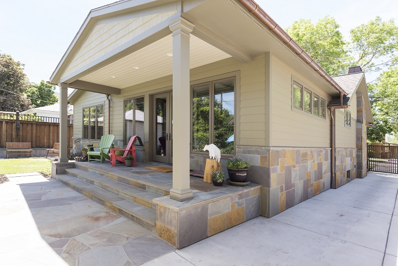 After Exterior Back Porch Remodel Outside Spaces Blaine Avenue Addition | Renovation Design Group