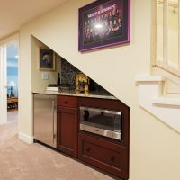 After Interior Basement Remodels Customized kitchenette Entertainment Areas Blaine Avenue Addition Renovation Design Group