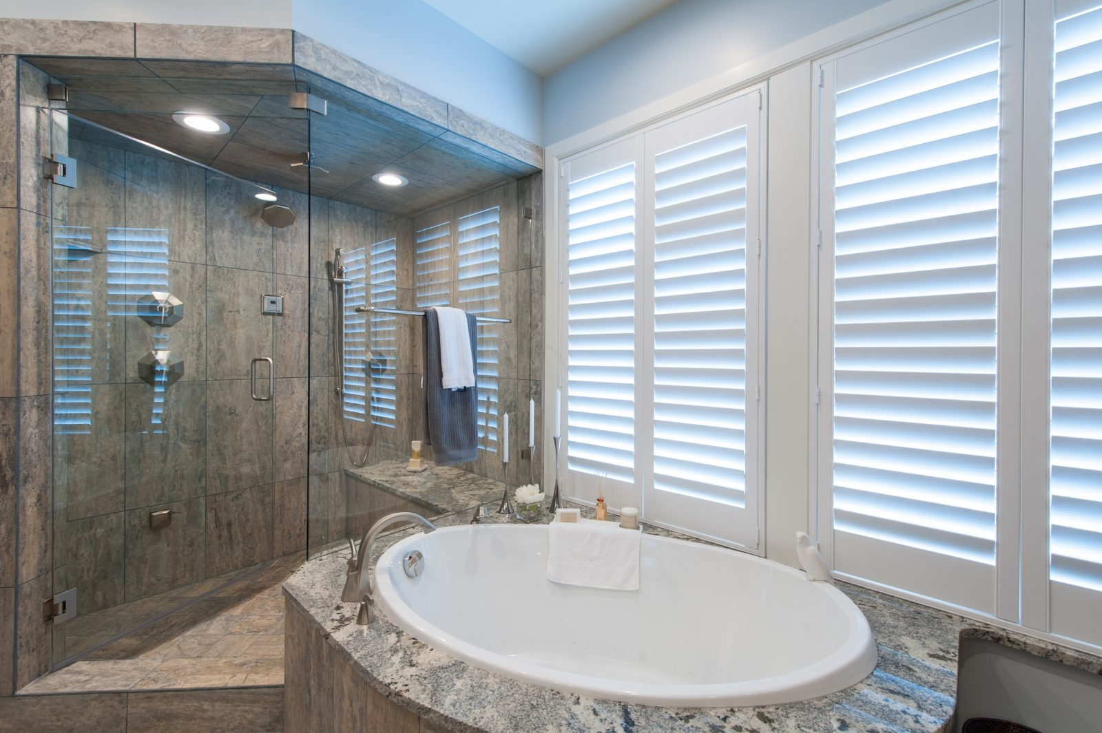 Briarcreek Contemporary, Interior Main Master Bath Remodel by Renovation Design