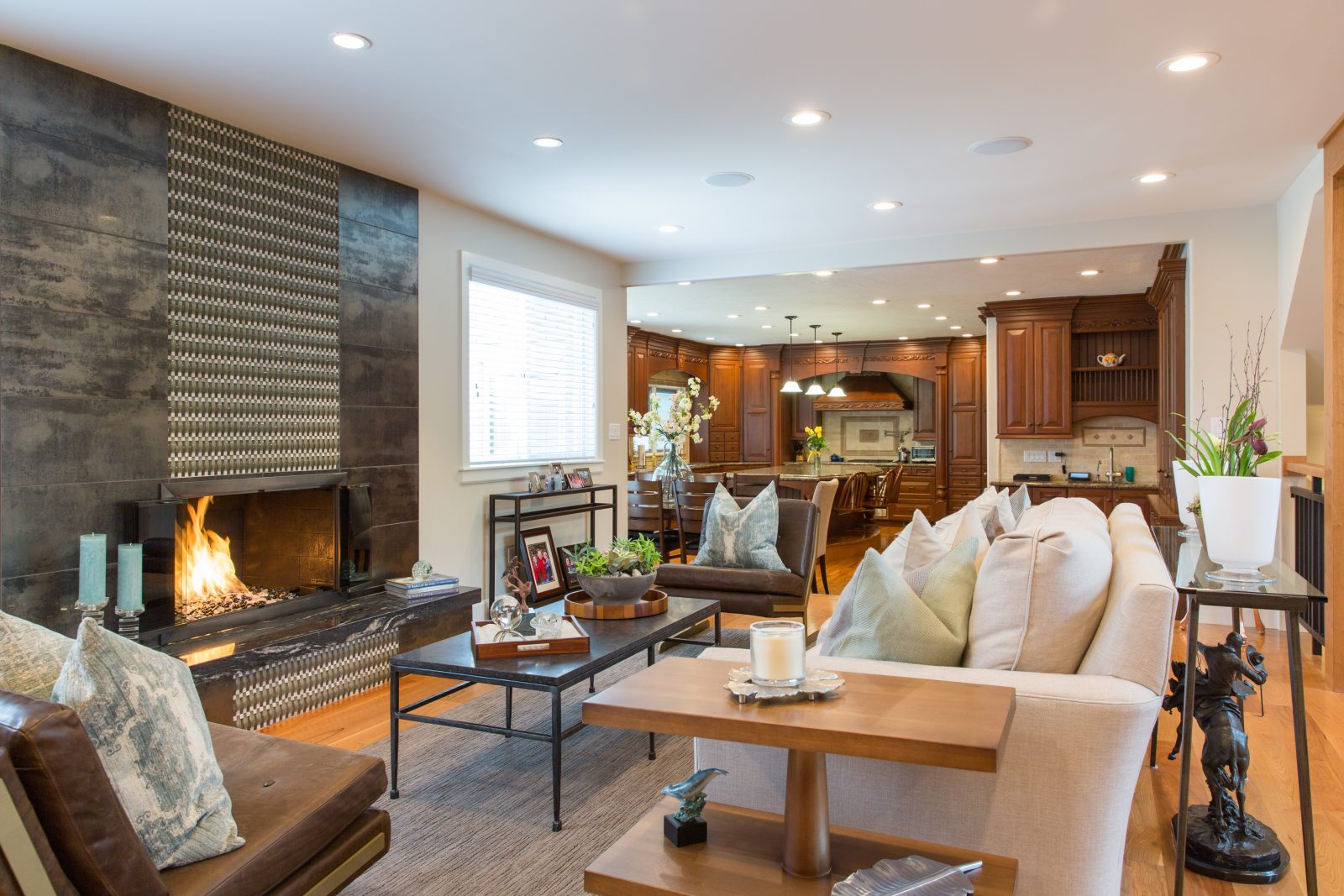 Briarcreek Contemporary, Interior Living Room Remodel by Renovation Design