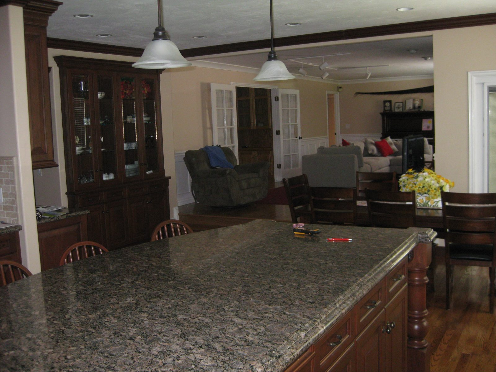 Before Picture Briarcreek Contemporary, Interior Main Great Room Remodel by Renovation Design