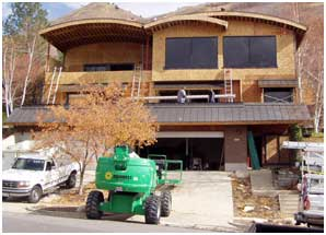 During Construction, Modern Home Remodeling Exterior Update | Renovation Design Group