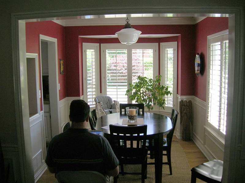 before dining room remodel