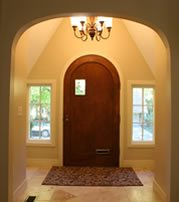 View from the interior of the entry of this tudor
