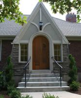 Updated and Renovated tudor style entry before renovation