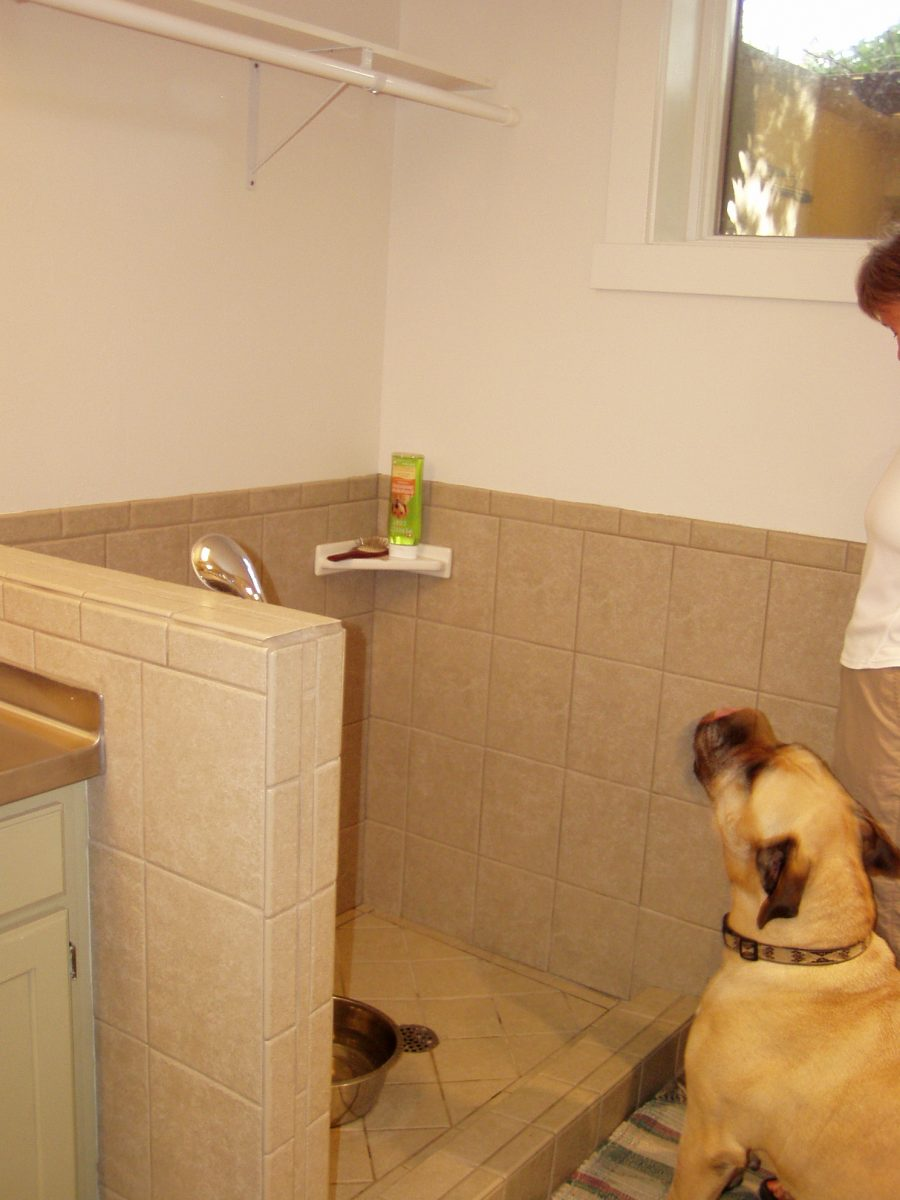 Dog Shower mudroom