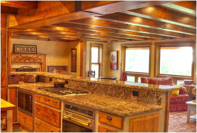 Timber beam Kitchen