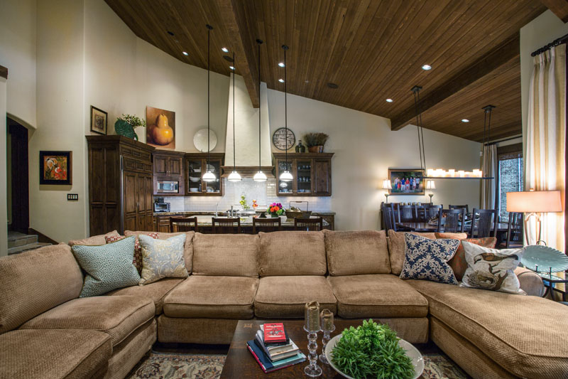 Mountain Home Great Room Refined Rustic Design and Style | Renovation Design Group
