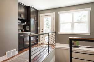 Back entry stair railings Cottages | renovation Design Group