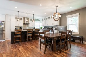 Kitchens Dining Rooms Open floor plans Hard wood flooring Contemporary accents traitional Cottage Kitchen | Renovation Design Group