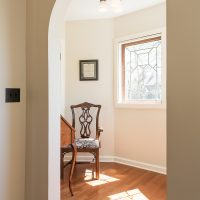Arch ways, Office nook, tudor windows, tudor design, natural light | Renovation Design Group