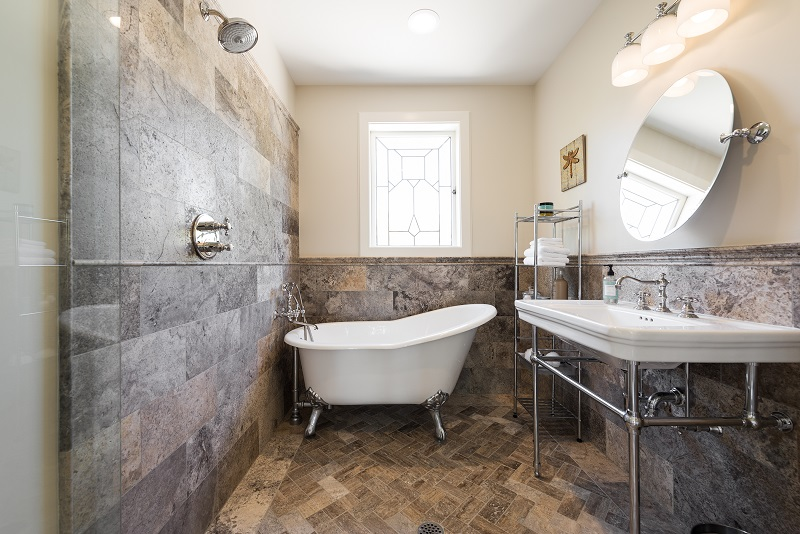 Master Bathroom, Master Bedroom, Vintage Tub, Free Standing Bathtup, Tudor Restorations, Industrial accents | Renovation Design Group