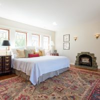 Master Bedroom, Master Suites, Tudor Home Restoration, Fireplace, Tudor Windows | Renovation Design Group