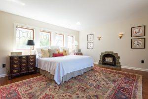 Master Bedroom, Master Suites, Tudor Home Restoration, Fireplace, Tudor Windows | Renovation Design Group