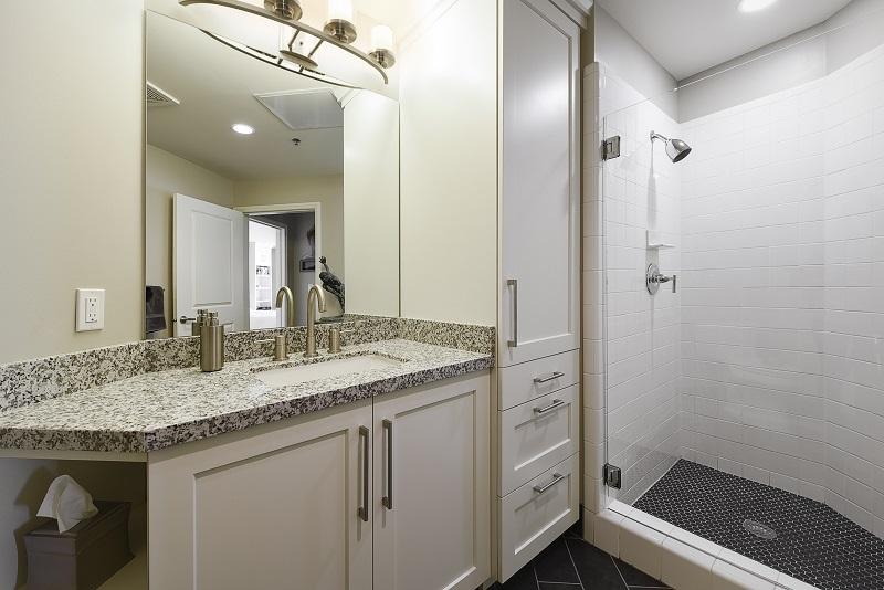 After Remodel Interior Bathroom Condominium Renovation Design Group