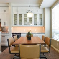 After Remodel Interior Dining Room Built in Storage Cabinetry Condominium Remodeling Ideas Renovation Design Group