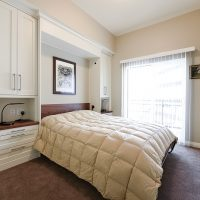 After Interior Guest Room Custom Murphy Beds Storage Option Condo Remodels Renovation Design Group