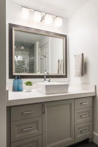 After_Interior_Bathroom_raised sinks_Modern Design_grey vanity_clean design_sleek design| Renovation Design Group
