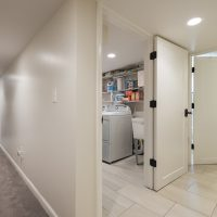 After, Interior, Laundry Room, BAsement Remodels, Bungalow Home | Renovation Design Group
