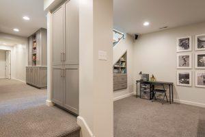 After_Interior_Basement Excavations_Basement Playrooms_Basement Game Room_Office | Renovation Design Group