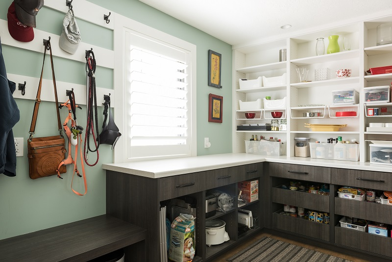 Double functioning mudroom and pantry