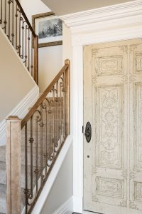After remodel, front entry, original doors, condos, staircase, 2 story condo, | Renovation Design Group