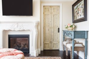 After, Living Room, Family Room, Old Doors, restored doors, Condos | Renovation Design Group