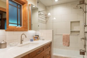 after Interior Basement Bathroom Contemporary Design Bungalow | Renovation Design Group